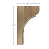 "Classic Trim To Fit Corbel, 1  3/4""w x 18""h x 12""d"