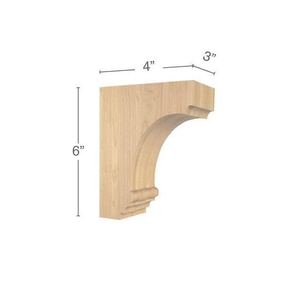 Cavetto Extra Small Bar Bracket, 3