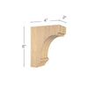 "Cavetto Extra Small Bar Bracket, 3""w x 6""h x 4""d"