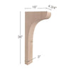 "Scotia Trim To Fit Corbel, 4  3/4""w x 36""h x 16""d"
