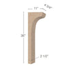 "Scotia Trim To Fit Corbel - Low Profile, 4  3/4""w x 36""h x 11""d"