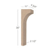 "Contemporary Trim To Fit Corbel - Low Profile, 4  3/4""w x 36""h x 11""d"