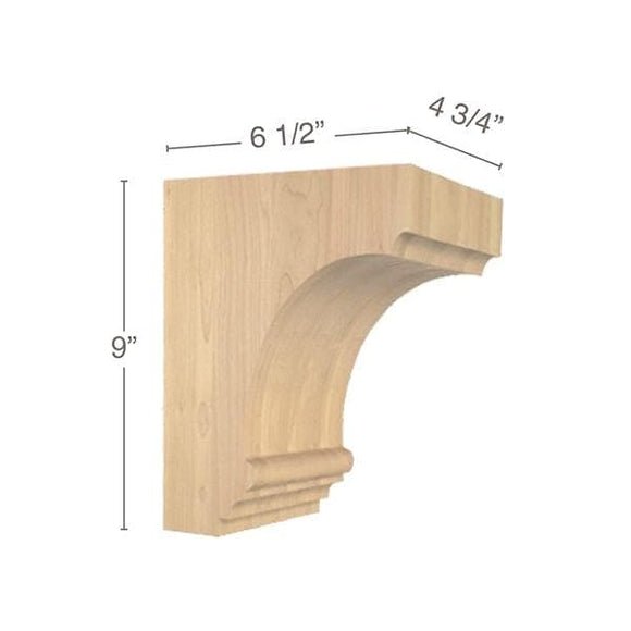 Cavetto Medium Bar Bracket, 4  3/4