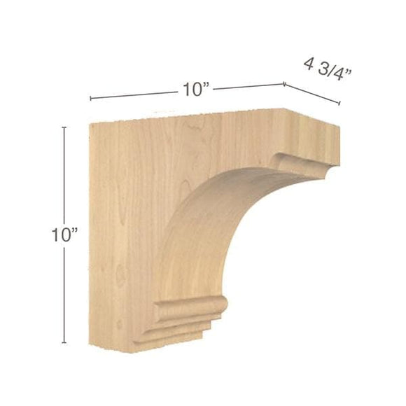 Cavetto Overhang Bracket, 4  3/4