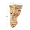 Medium Fluted Corbel, 7''w x 14''h x 5 1/4''d