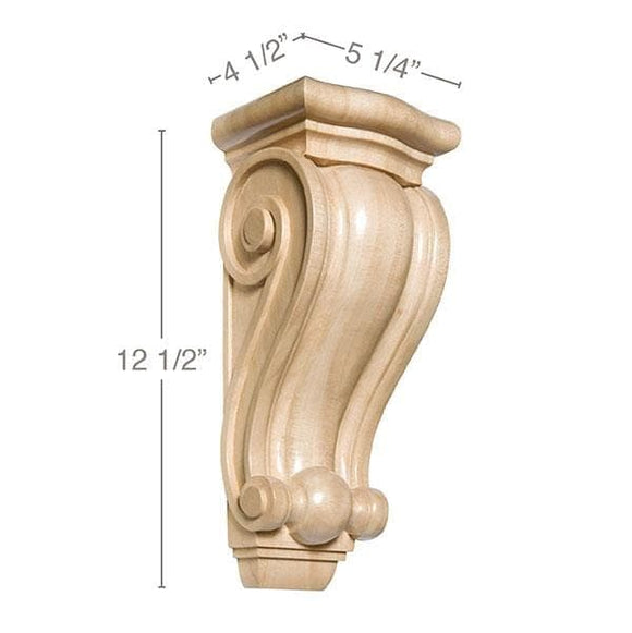 Traditional Corbel, 5 1/4''w x 12 1/2''h x 4 1/2''d