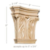 "Extra Large Corinth Capital, 8""w x 8""h x 2 1/4""d, (accepts up to 5""w x 3/4""d)"