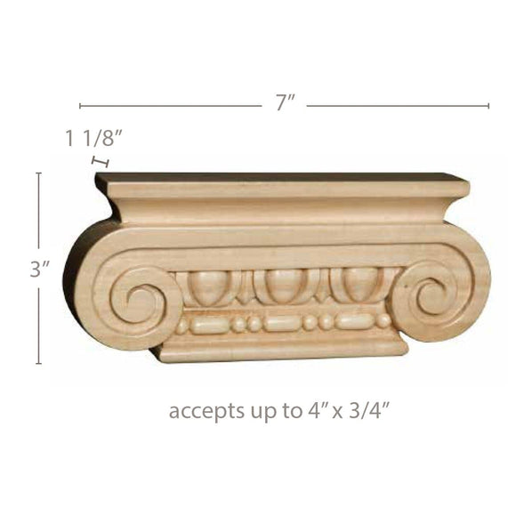Small Ionic Capital (accepts up to 3/4