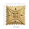 Large Square Rosette (Sold 2 per card), 5''w x 5''h x 5/8''d, Lindenwood