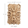 Medium Rectangular Rosette (Sold 2 per card), 3 1/2''w x 5 1/2''h x 3/4''d