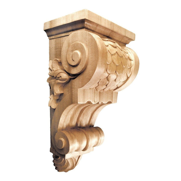 Large Imbricated Corbel, 8''w x 16''h x 7''d, Lindenwood