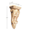 Small Fluted Corbel, 5 1/2''w x 10''h x 2 1/2''d