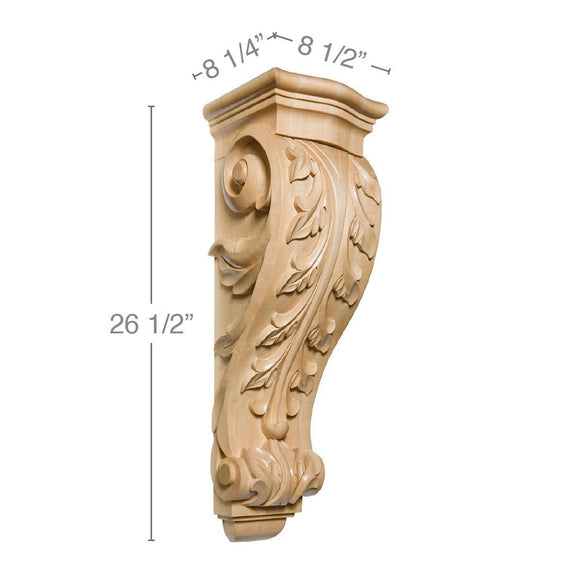 Large Acanthus Corbel, 8 1/2