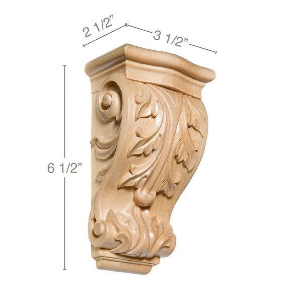Small Acanthus Corbel, 3 1/2