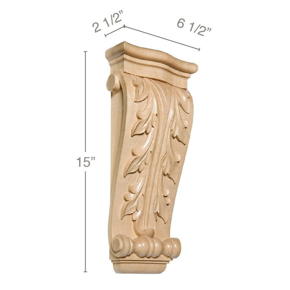 Large Acanthus Corbel, 6 1/2