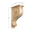 "Large Traditional Corbel, 3 3/4""w x 13""h x 8 1/2""d"