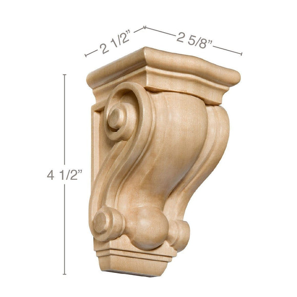 Small Traditional Corbel, 2 5/8