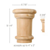 "Grand Traditional Capital, 6 7/8""w x 9 1/4""h x 3 3/8""d, (accepts up to 4""w x 2""d)"