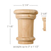 "Extra Large Traditional Capital, 5 1/4""w x 7 1/8""h x 2 5/8""d, (accepts up to 3""w x 1 1/2""d)"