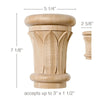 "Extra Large Papyrus Capital, 5 1/4""w x 7 1/8""h x 2 5/8""d, (accepts up to 3""w x 1 1/2""d)"