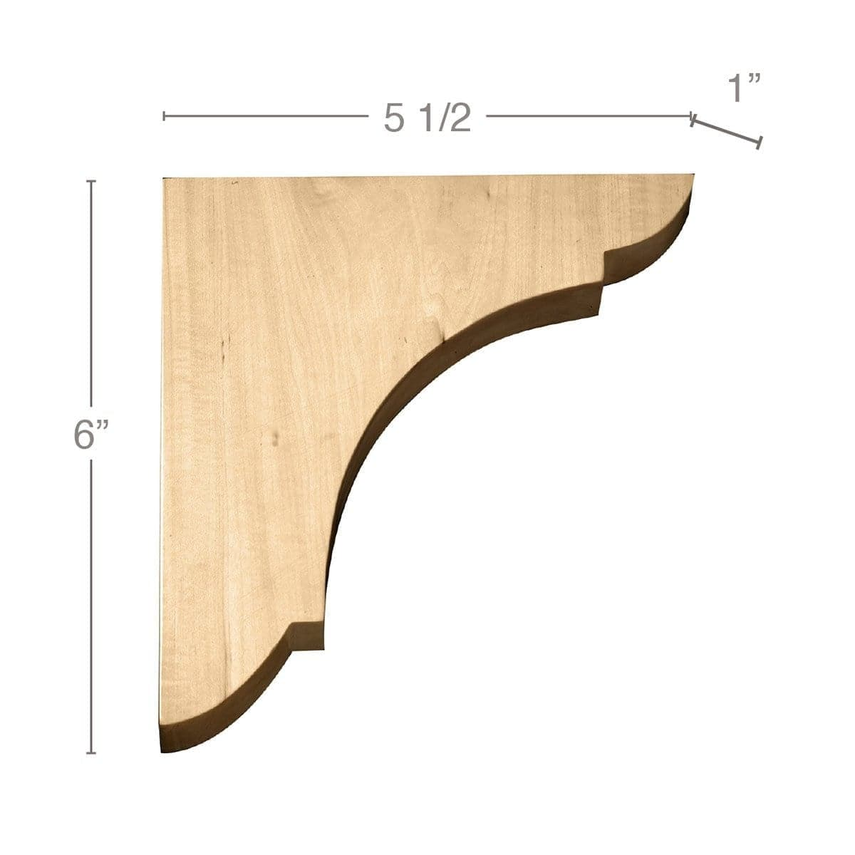 "Medium Wall Bracket, 1""w x 6""h x 5 1/2""d"