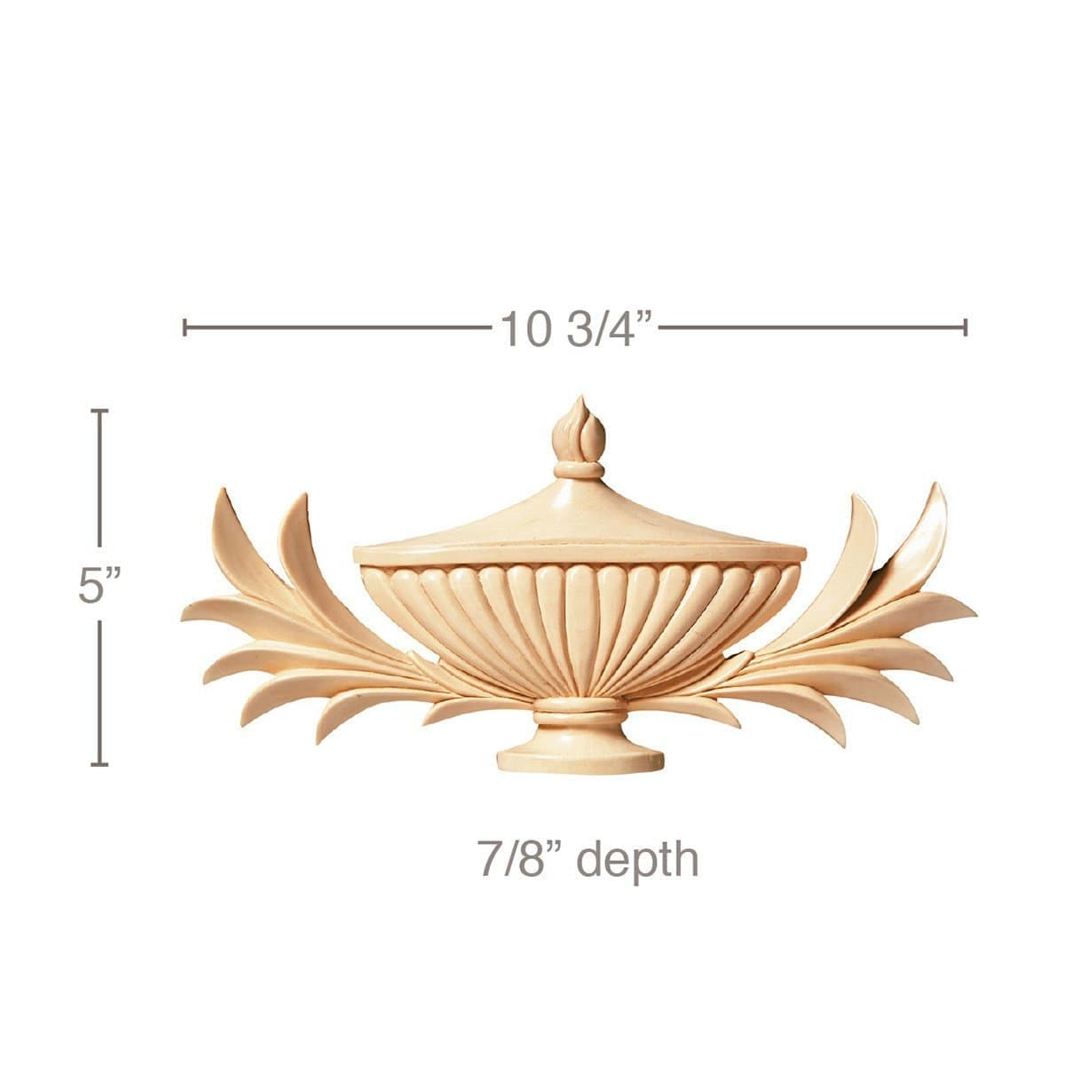 "Papyrus Leaves & Urn, 10 3/4""w x 5""h x 7/8""d"