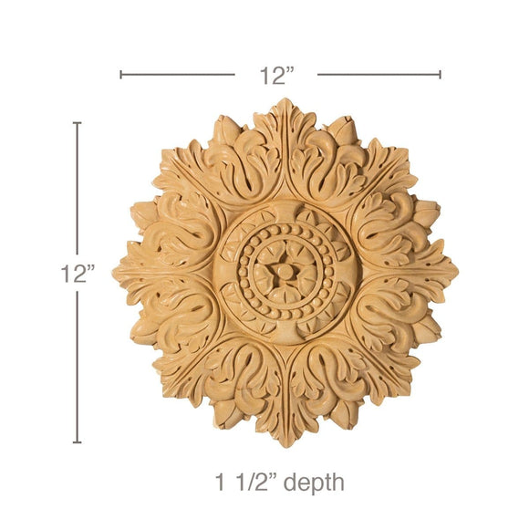 Medium Acanthus Medallion, 12