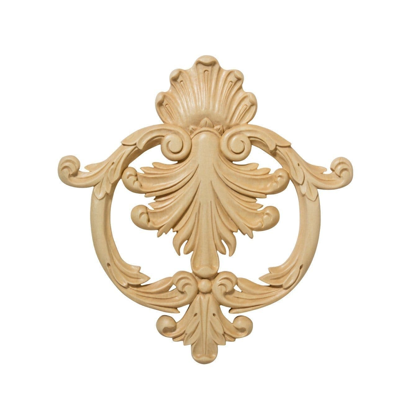 Small Ceiling Cartouche, 10 3/8w x 10 3/8h x 13/16d, Lindenwood