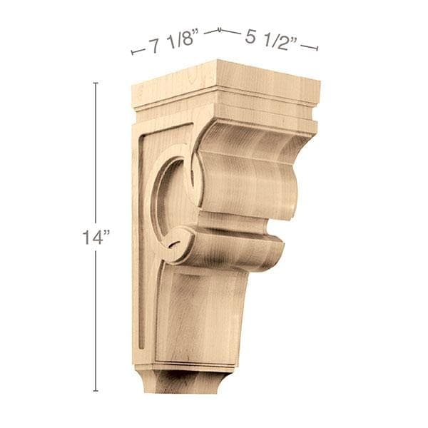"Large Celtic Corbel, 5 1/2""w x 14""h x 7 1/8""d"