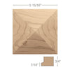 "Square Pinnacle Tile, 5 15/16"" sq. x 3/4""d"
