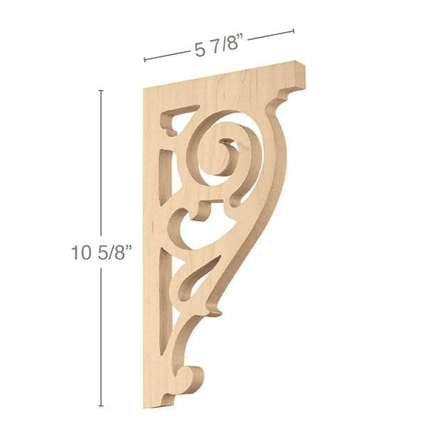 "Baroque Bracket, 5/8""w x 10""h x 5 7/8""d"
