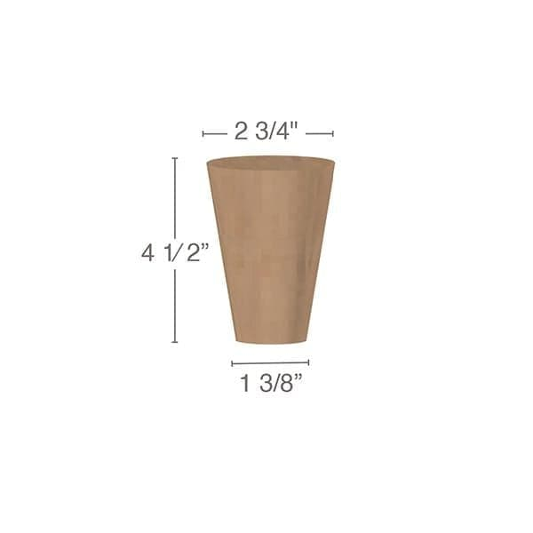 "Cabinet & Furniture Foot, 3  1/4""sq. x 4  1/2""h"