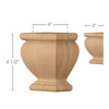 "Square Traditional Split Foot, 4""w x 4 1/2""h x 2""d, 1 Pair"