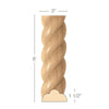 "Medium Rope Moulding, 3""w x 1 1/2""d x 8' length, Sold in pairs, 4' lengths, Resin is priced per 8' length"