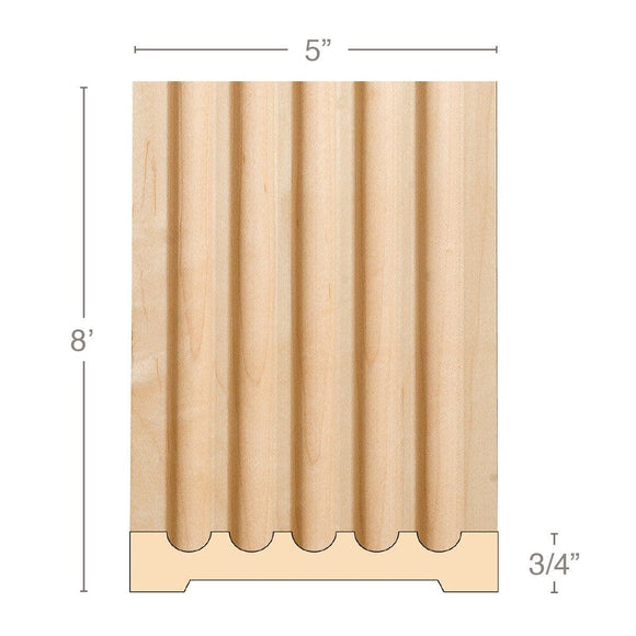 Extra Large Fluted Pilaster, 5