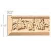 Vineyard Frieze (Repeats 17 3/4), 3 1/2''w x 13/16''d x 8' length, Resin is priced per 8' length