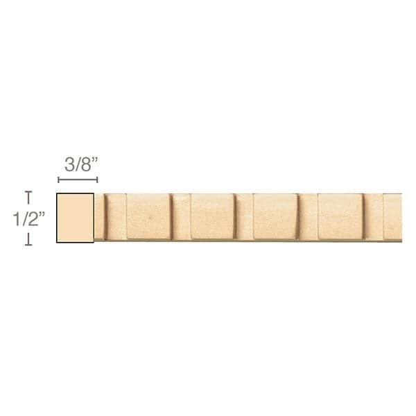 Dentil, 1/2''w x 3/8''d x 8' length, Resin is priced per 8' length