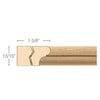 Parting Strip, 13/16''w x 1 5/8''d x 8' length, Resin is priced per 8' length