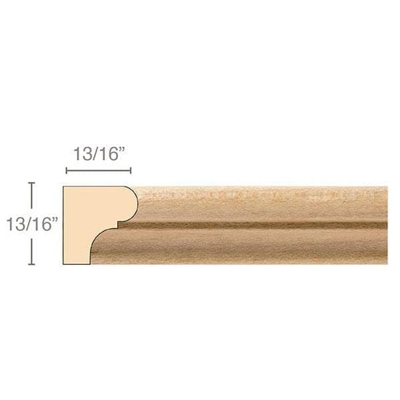 Parting Strip, 13/16''w x 13/16''d x 8' length, 8' length