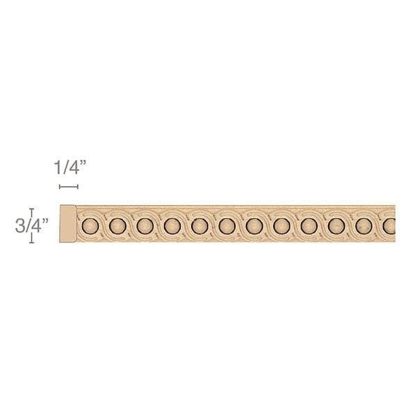 "Infinity Light Rail Insert Moulding, 3/4""w x 1/4""d x 8' length"