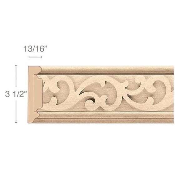 Panel Moulding With Baroque Insert, 3 1/2