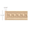 "Frieze With Infinity Insert, 3 1/2""w x 13/16""d x 8' length"