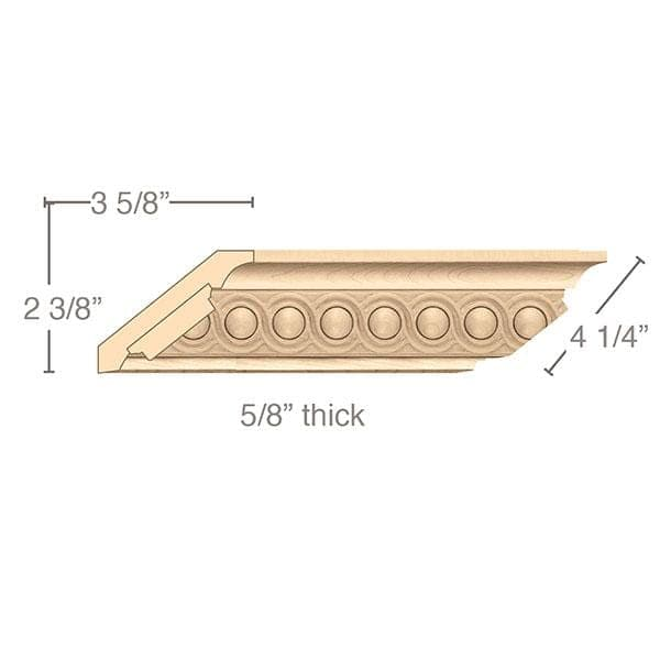 "Crown Moulding With Infinity Insert, 4 1/4""w x 5/8""d x 8' length"