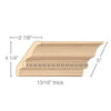 "Light Rail Crown Moulding With Infinity Insert, 5""w x 13/16""d x 8' length"