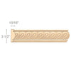 "Panel Moulding With Madeline Insert, 3 1/2""w x 13/16""d x 8' length"