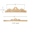 Large Scrolled Acanthus Pediment, 84''w x 11 1/2''h x 2 5/8''d