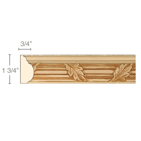 Reed and Leaf, 1 3/4''w x 3/4''d