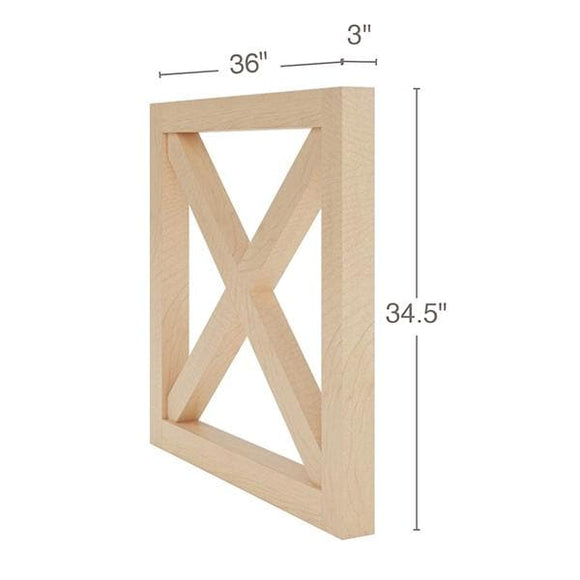 Farmhouse X-Brace End Panel, 36