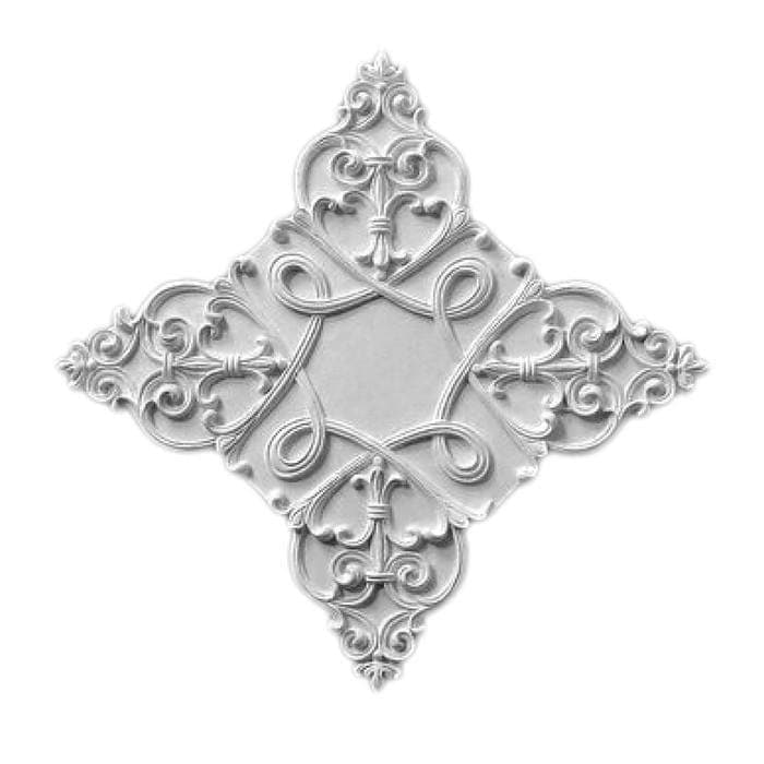 "Elizabethan Medallion, Plaster, 24 1/2""w x 24 1/2""h x 1/2""d, MADE TO ORDER, NOT RETURNABLE, MINIMUM ORDER AMOUNT $200"
