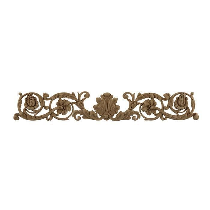 "Louis XVI Horizontal Design Onlay, 26 3/4""w x 4 1/4""h x 3/8""d, Made To Order, Minimum Order Amount $300"